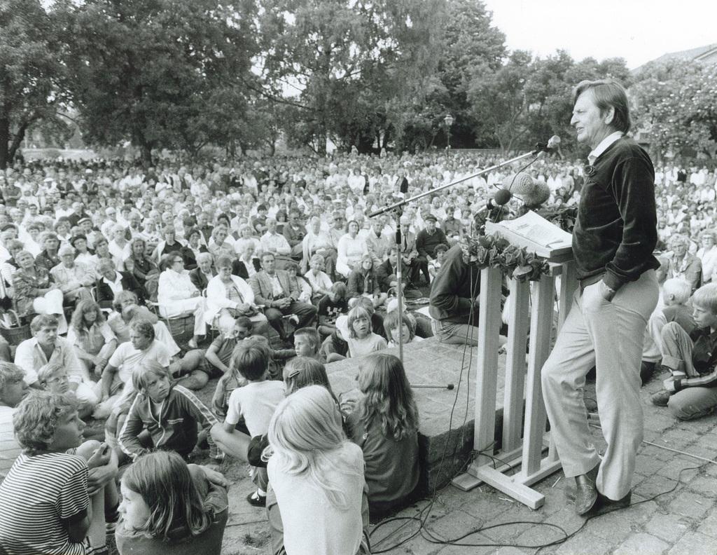Olof Palme i Almedalen - Almedalsveckan